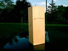 2004 LEVY & McCLELLAN NAPA VALLEY RED WINE BOX CRATE INAUGURAL SIGNED CARD IN IT