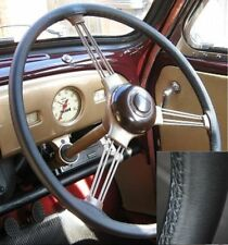 FOR WOLSELEY 16/60 BLACK ITALIAN LEATHER STEERING WHEEL COVER