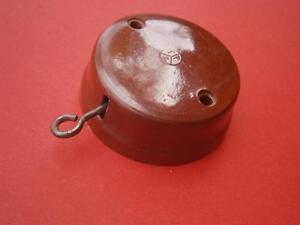 Brown Bakelite Door Bell Press Doorbell Push NOS From 1950 Aprox.