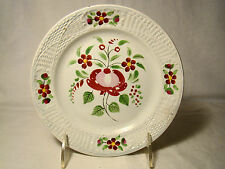 "Staffordshire Pearlware Gaudy Rose & Flower Medallion Plate 19th c 6 5/8"" dia"