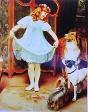 Pretty girl. dogs  by John Arthur Elsley
