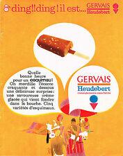 PUBLICITE ADVERTISING  1962   GERVAIS  glaces  ESQUIMEAU