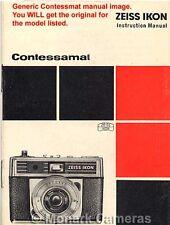 CONTESSAMAT se guide d'instructions 1965, plus ZEISS IKON appareil photo manuels énumérés