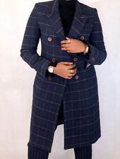 Norton & Townsend Tweed Wool Blend Coat Navy Check UK10 RRP£390