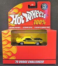 HOT WHEELS 100% RED BOX 1970 DODGE CHALLENGER T/A 340 SIXPAK, BRAND NEW MINT