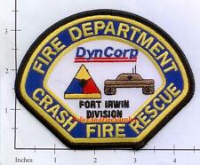 California - Fort Irwin Division DynCorp Crash Fire Rescue CA Fire Dept Patch