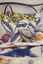 Anthropologie Sham HIDEAWAY Pillow EURO Quilted Cotton Flowers Bedding NWT