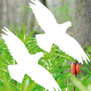 2 Aufkleber 20cm weiß Habicht Fenster Tattoo Warnvogel Vogelschutz Vogelschreck