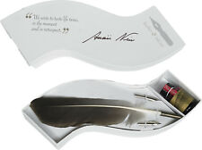 Authentic Models MG303 Calligraphy Wave Writing Feather Pen & Ink Set White Box