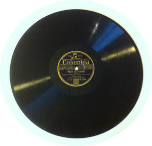 78T LP 78rpm TINO ROSSI Roses de Picardie & Petite maison grise COLUMBIA