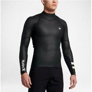 Hurley Men's Phantom Windskin 0.5mm Long Sleeve Wetsuit Surf Jacket - Black