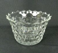 """Vintage Fostoria American Small Serving Bowl 6"""" Clear Glass Cubes"""