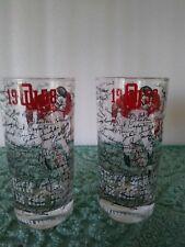1958 Oklahoma Orange Bowl Silver Anniversary Glasses