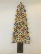 Handmade Quilted Christmas Tree Wall Door Hanging Decoration bells ornament