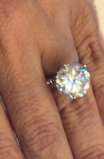8 Ct Off White Yellow Moisssanite Solitaire Engagement Ring 925 Sterling Silver