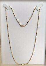 18 kt Gelbgold Weißgold Halskette 750 Gold