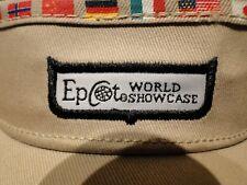 New listing Walt Disney World Epcot World Showcase Country Flags Tan Sun Visor Hat New