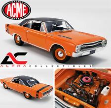 ACME A1806404VT 1:18 1969 DODGE DART GTS 440 - ORANGE WITH BLACK VINYL TOP