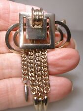 Vintage 1940'S Retro Modern Pin/Pendant With Tassles!