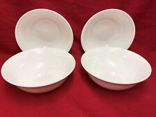 Set of 4 Soup or Cereal dish White Bone China