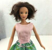 1991 Mattel Twist N Turn Barbie Doll Rooted Brunette Hair
