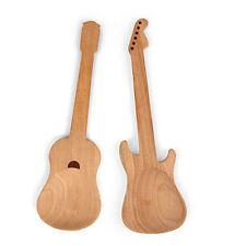 Conjunto de 2 Madera Haya Rockin guitarra en forma de cuchara de ensalada de Kikkerland