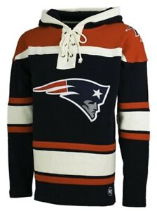 New England Patriots '47 Mens Lacer Hooded Sweatshirt hoodie XL X-large pullover