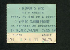 1989 Ringo Starr First All Star Band concert ticket stub Walsh Preston Clemons