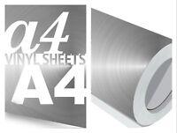 A4 Vinyl Sheets Silver Chrome 10M Rolls Craft Sticker Sign Making Sticky Back