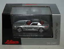 Model Building Lovely Mercedes Benz Sls Amg C197 Coupe 2009-14 Obsidian Black Black Metallic 1:87