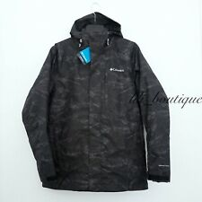 NWT New Columbia 1878961010 Men Nordic Point III Interchange Jacket Camo Black M