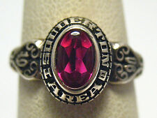 GOLD SOUDERTON HIGH SCHOOL RING 1990 SIZE 4 PINK STONE SYBOLL