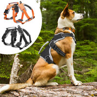 Hundegeschirr Reflektierend Brustgeschirr mit Griff Verstellbar Große Hunde S-XL