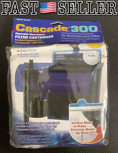 Pack Of 3 Genuine Penn Plax Cascade 300 GPH Filter Cartridges - SEALED! FAST!
