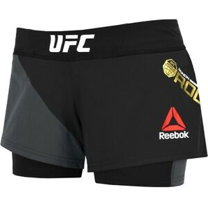 Reebok UFC Fight 2in1 Shorts Sports Pants Running Ladies Girls Children New