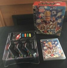 Buzz! Quiz TV (Sony PlayStation 3, 2008) With Wireless Buzzers USB Dongle PS3