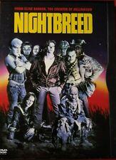 Night Breed (DVD, 2001) Clive Barker 1990 Horror Classic Craig Sheffer Very Good