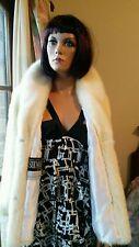 Vintage Genuine Bridal Ivory Tourmaline Mink Fur Stroller Coat Jacket 10-12 Mint