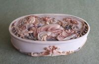 Art Nouveau Style Ceramic Trinket Box or Soap Dish 15 x 8 x 4.5 cms
