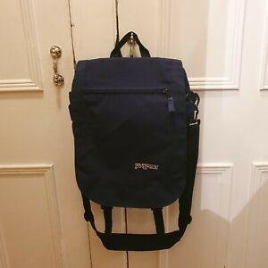 JanSport Medium Size Messenger Shoulder Bag Navy Dark Blue NEW