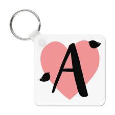 Letter A Heart Alphabet Keyring Key Chain - Valentines Day Love Girlfriend