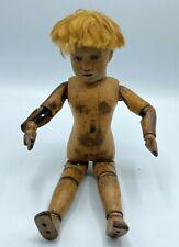 Antique Shoenhut German Jointed Boy Doll Mohair Wig SEE DESCRIPTION Circa 1920