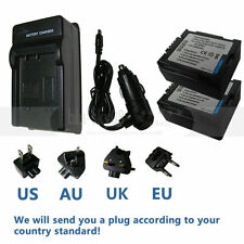 2X Battery+charger for CGR-DU06 CGR-DU07 CGA-DU07 PANASONIC PV-GS19  Camcorder