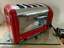"**DUALIT CLASSIC 4 SLICE VARIO TOASTER ""40353, POLISHED & RED, PAT TESTED**"