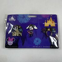 Disney Store Minnie Mouse Main Attraction Castle Fireworks Pin Set Dec 12/12
