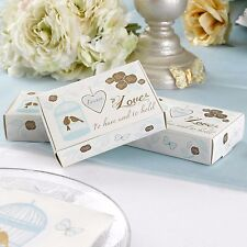 10 CAKE SLICE BOXES Wedding Favours TO HAVE and TO HOLD Vintage Birdcage & Birds