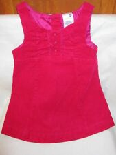 Raspberry Red Corduroy Sleeveless Jumper Healthtex Girl's Size 24 Months