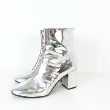 BALENCIAGA Stiefelette Low Boots Silver Ankle Silber Gr. EUR 39 (N28)