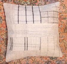 (50*50cm, 20inch) Genuine Turkish handwoven kilim cushion patchwork/whitecheck11