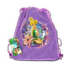Sling Bag Tote Drawstring Net Mesh Disney Tinkerbell Fairie Purple New